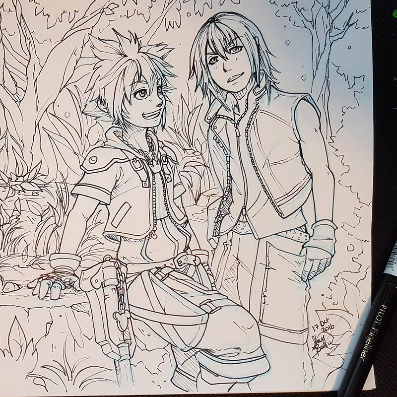 Kingdom Hearts Fan Art - Inktober