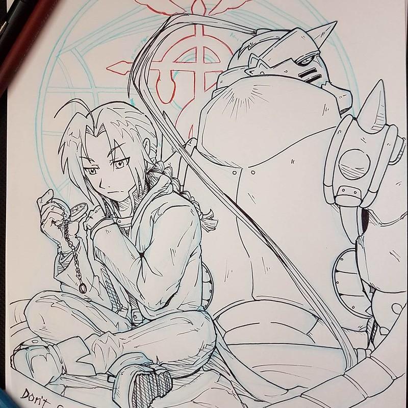Fullmetal Alchemist Fan Art - Inktober