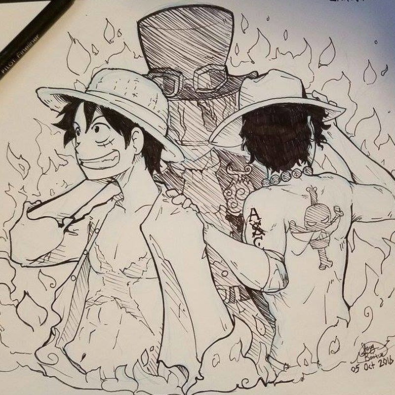 One Piece Fan Art - Inktober