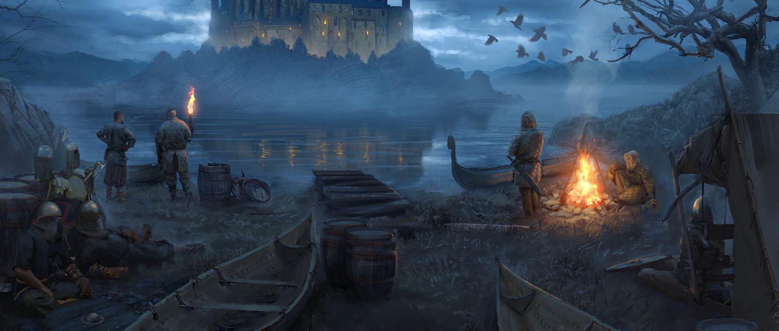 Viking campfire