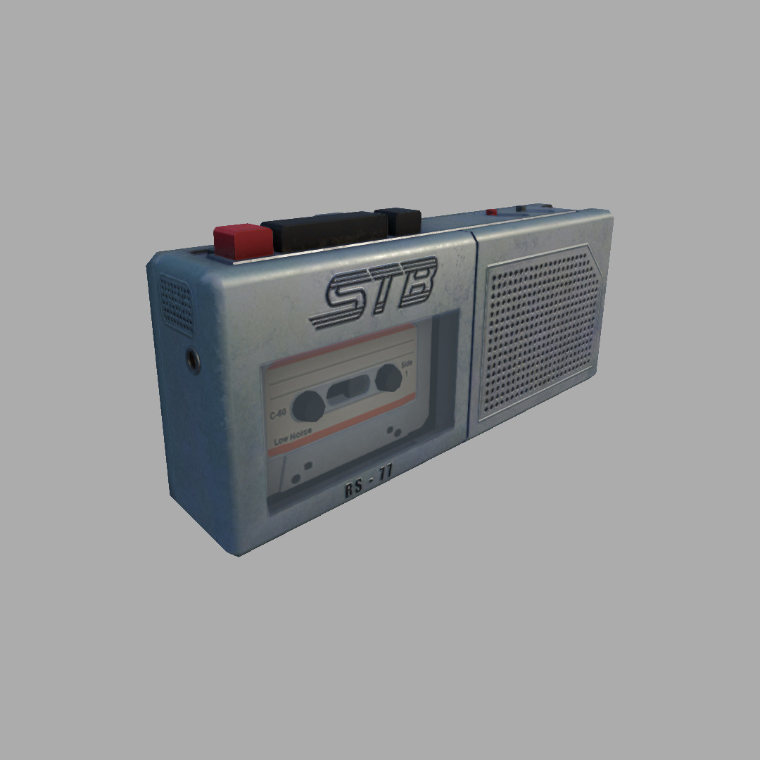 I was asked to quickly transform an existing  walk man asset into a micro recorder.  It took a day to repurpose the walkman into this.