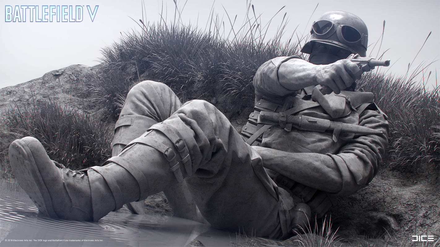 """Battlefield V"" - Axis Assault in Escaut, France - Concept Sculpture, Alternate clay render"