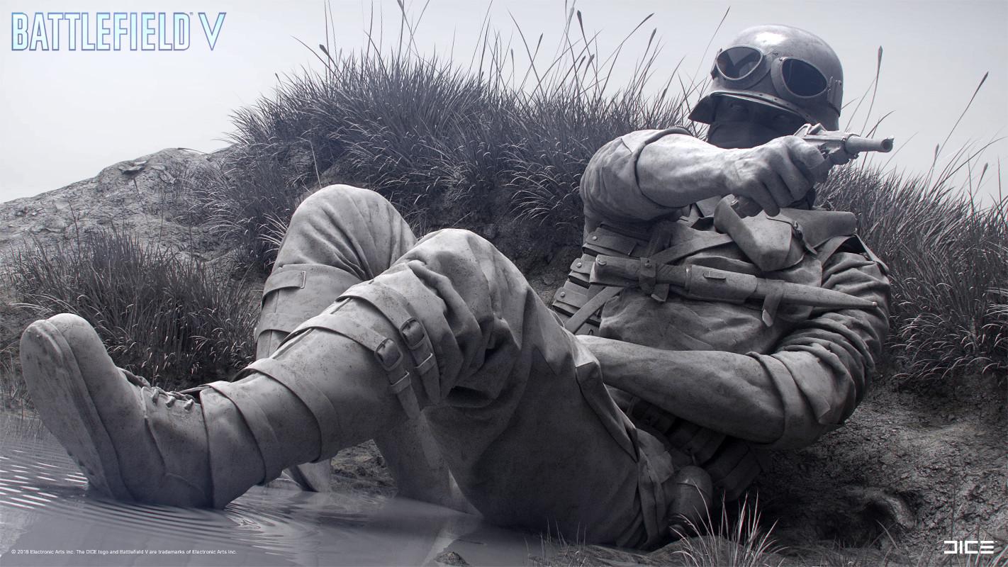 """Battlefield V"" - Axis Assault in Escaut, France - Concept Sculpture, Alternate clay render"