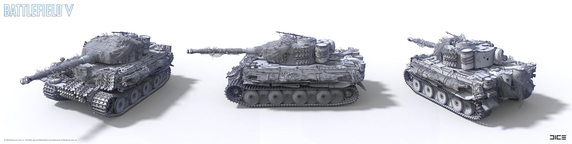 """Battlefield V"" - The Last Tiger - Final Concept Sculpture turntable"
