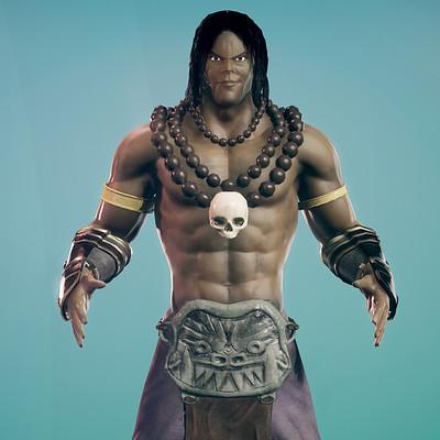 Santi espada render pose personaje videojuegos