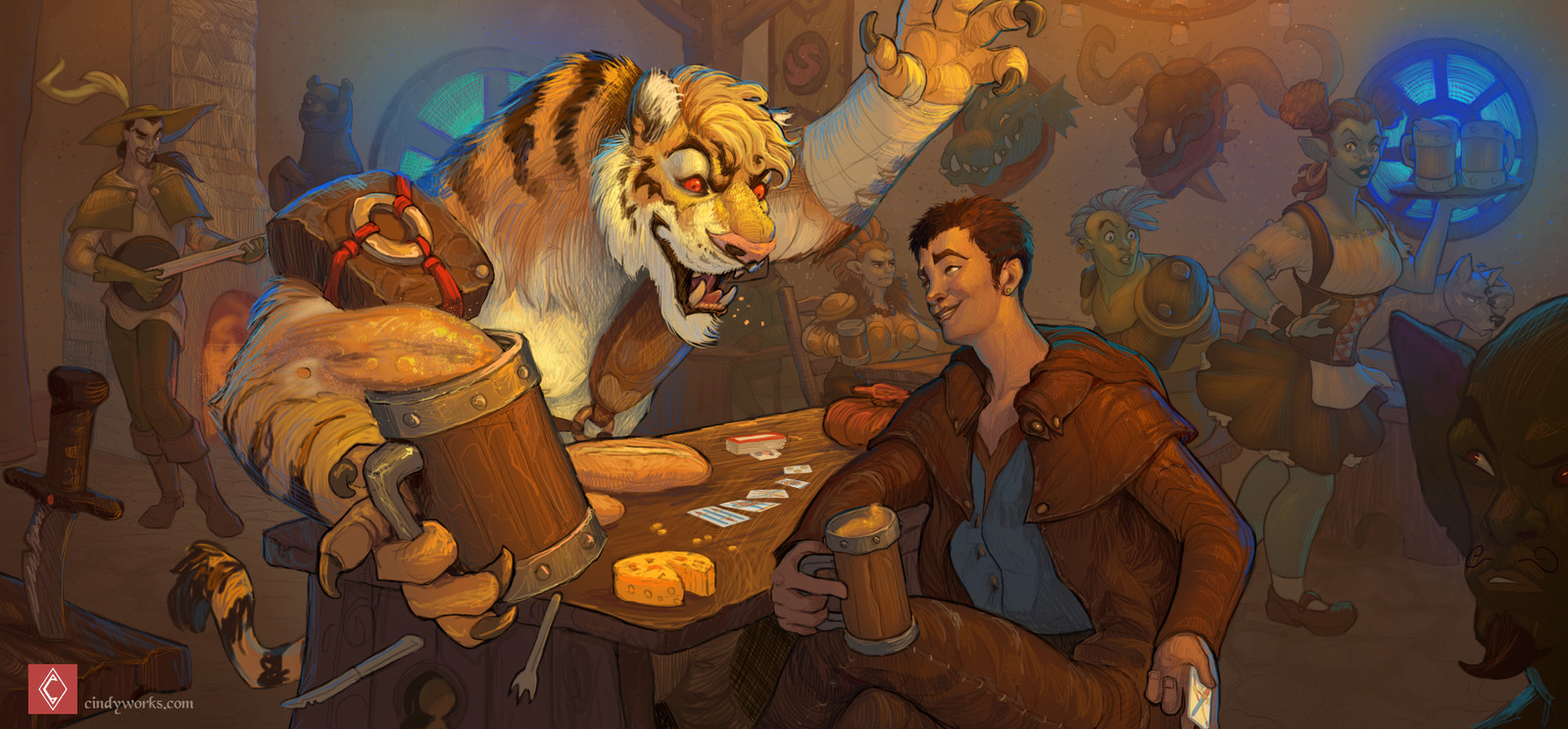 Erol and Ruffus at a Tavern