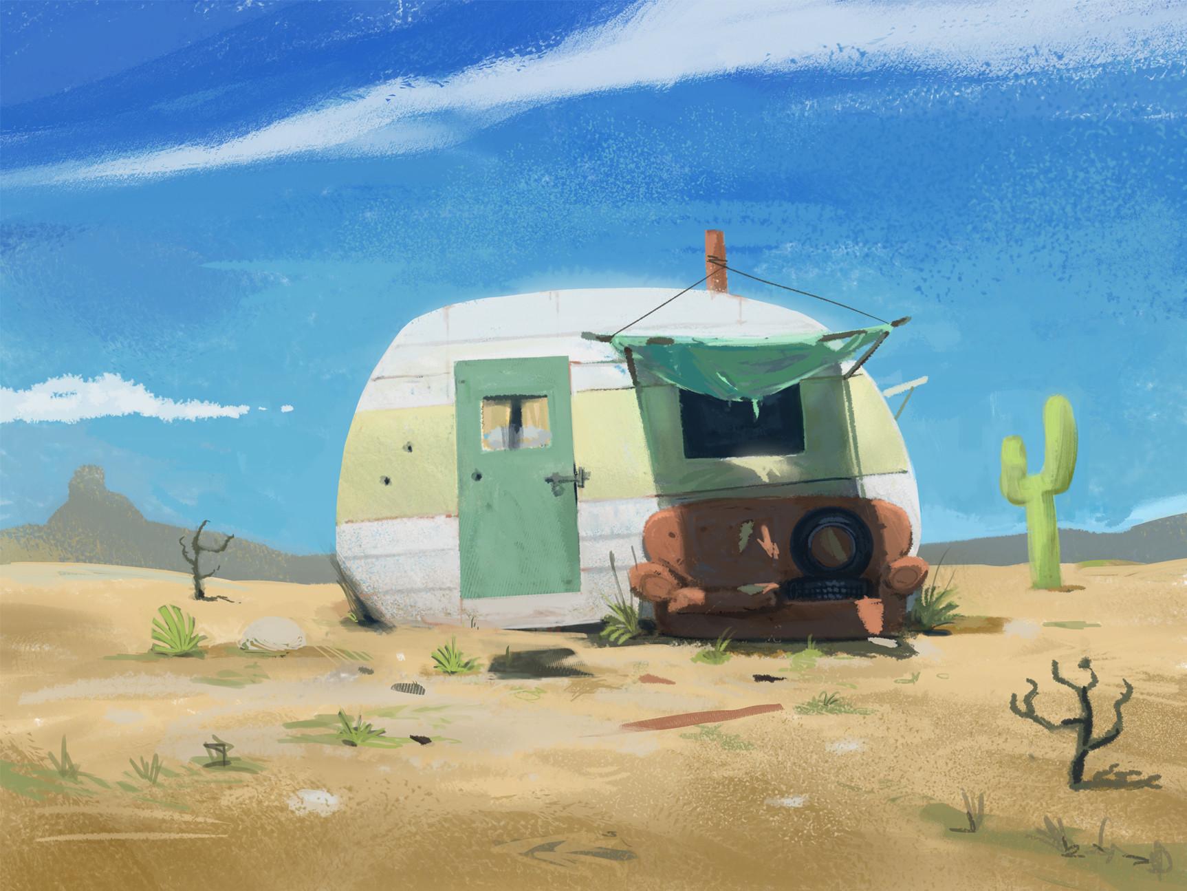 West clendinning rundown caravan small