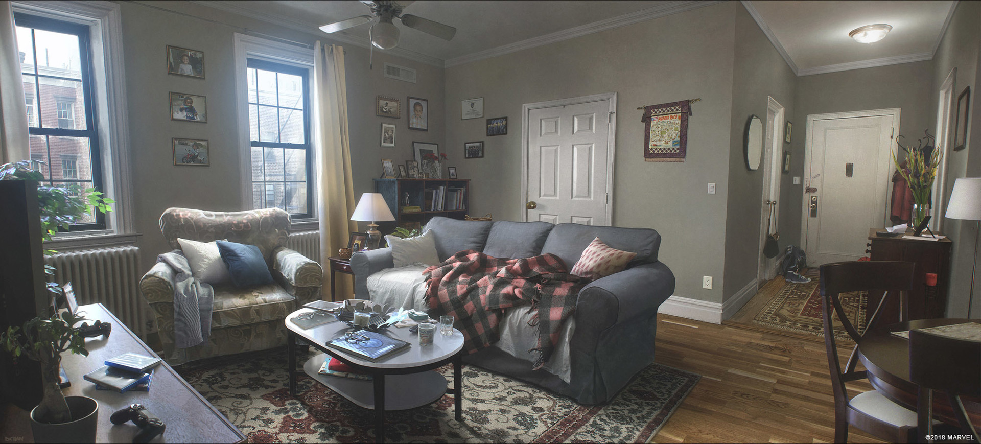 Miles and Rio Morales living room.