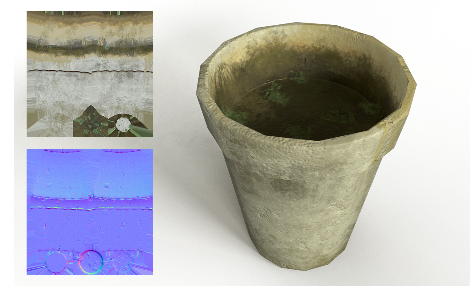 Moldy Styrofoam coffee cup textured in Substance Painter with Unity texture maps. Styrofoam texture created in B2M.