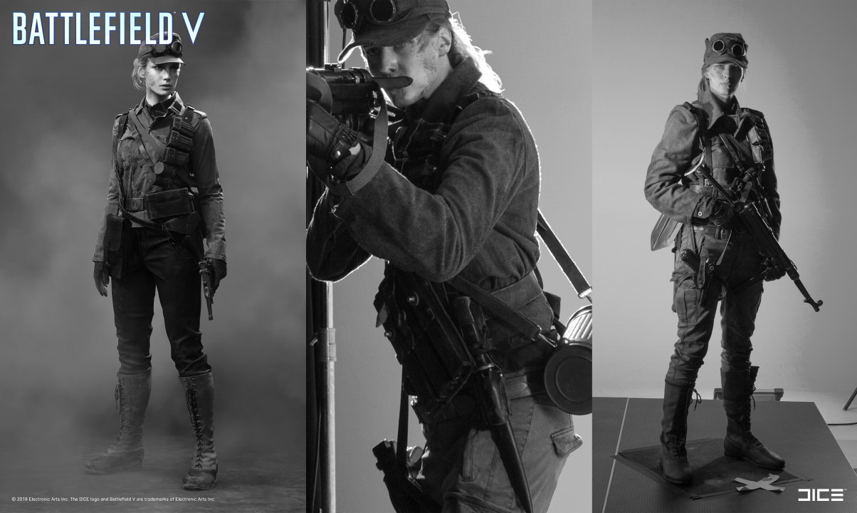 """Battlefield V"" - Axis Medic, MP Soldier - From Concept Art to Real Costume (Shots from the Campaign Art photo shoot)"