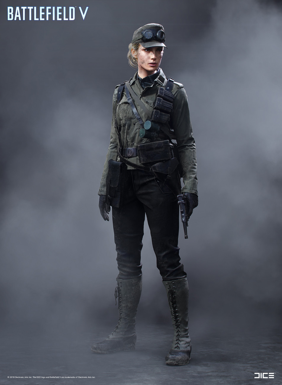"""Battlefield V"" - Axis Medic, MP Soldier - Concept Art"