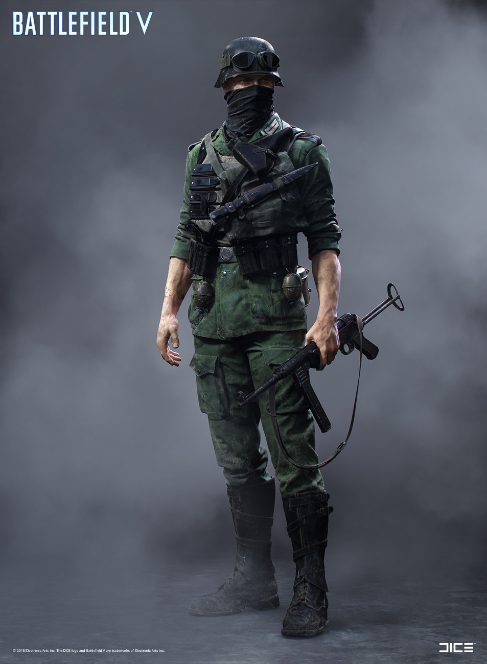 """Battlefield V"" - Axis Assault, MP Soldier - Concept Art"