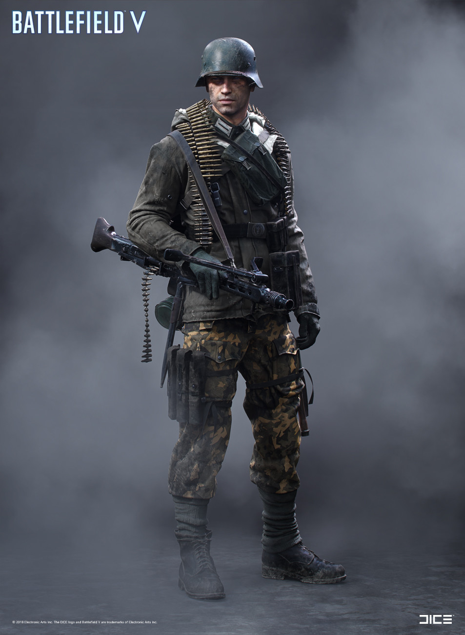 """Battlefield V"" - Axis Support, MP Soldier - Concept Art"
