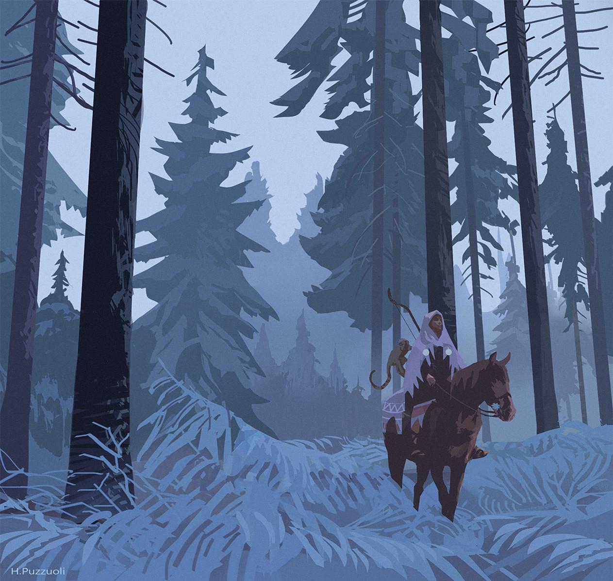 Hugo puzzuoli winter forest hpuzzuoli