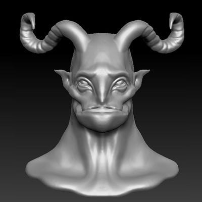 Pommier nathan zbrush buste