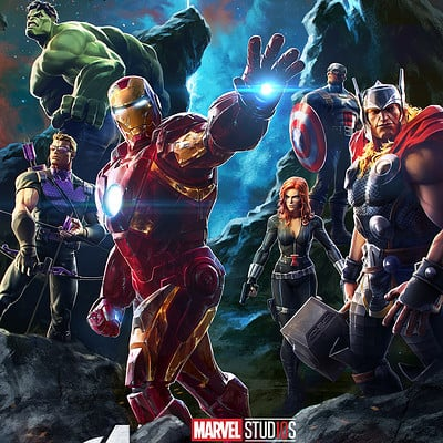 Charles chen ge avengers 10years poster fin