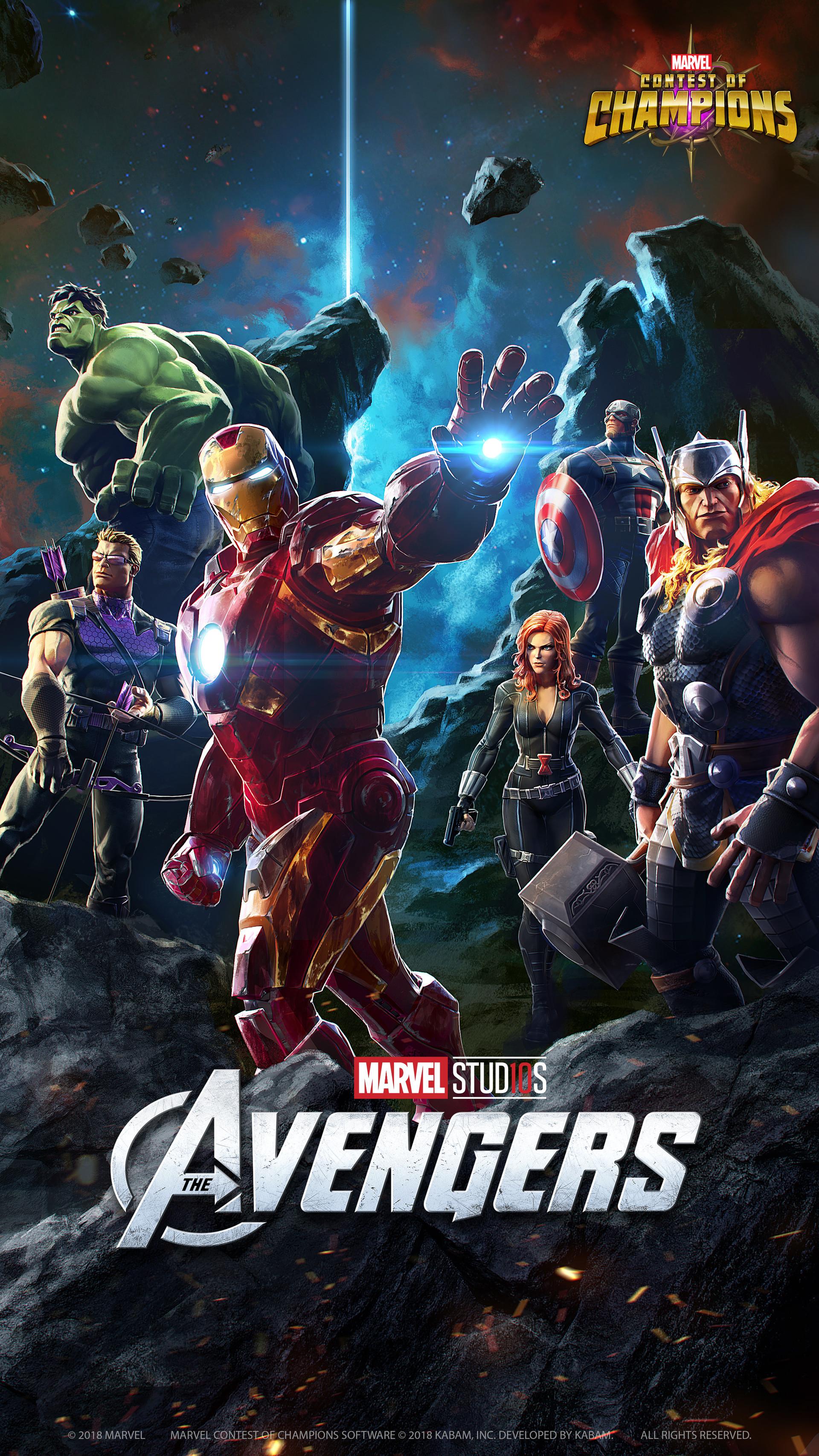 Avengers (2012) - Marvel studio 10 years anniversary poster