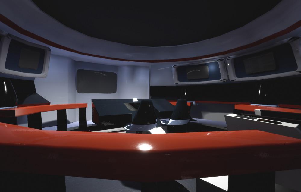 Miriam Volk - Star Trek TOS Enterprise bridge