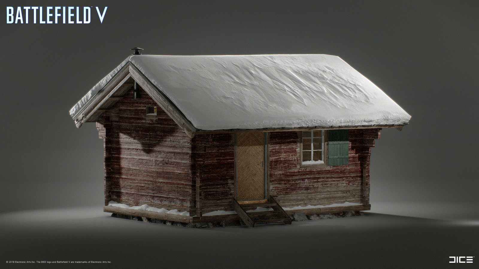 Model and textured houses on Fjell 625. Base mesh by Jimmy Gustafsson, Snow meshes by Daniel Rocque Bengtsson, destruction by Ludwig Lindstål