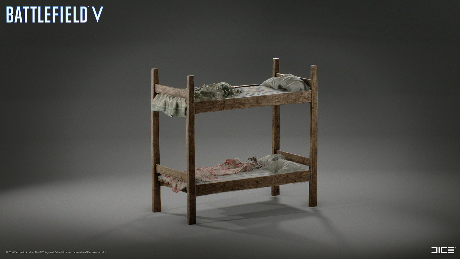 Modeled and textured Bunk Bed