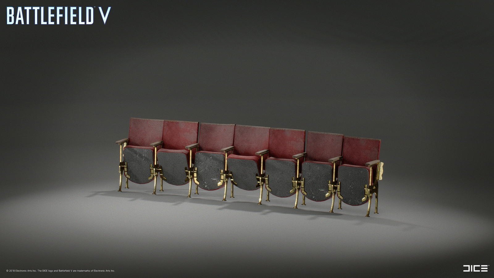 Modeled and textured Cinema chairs