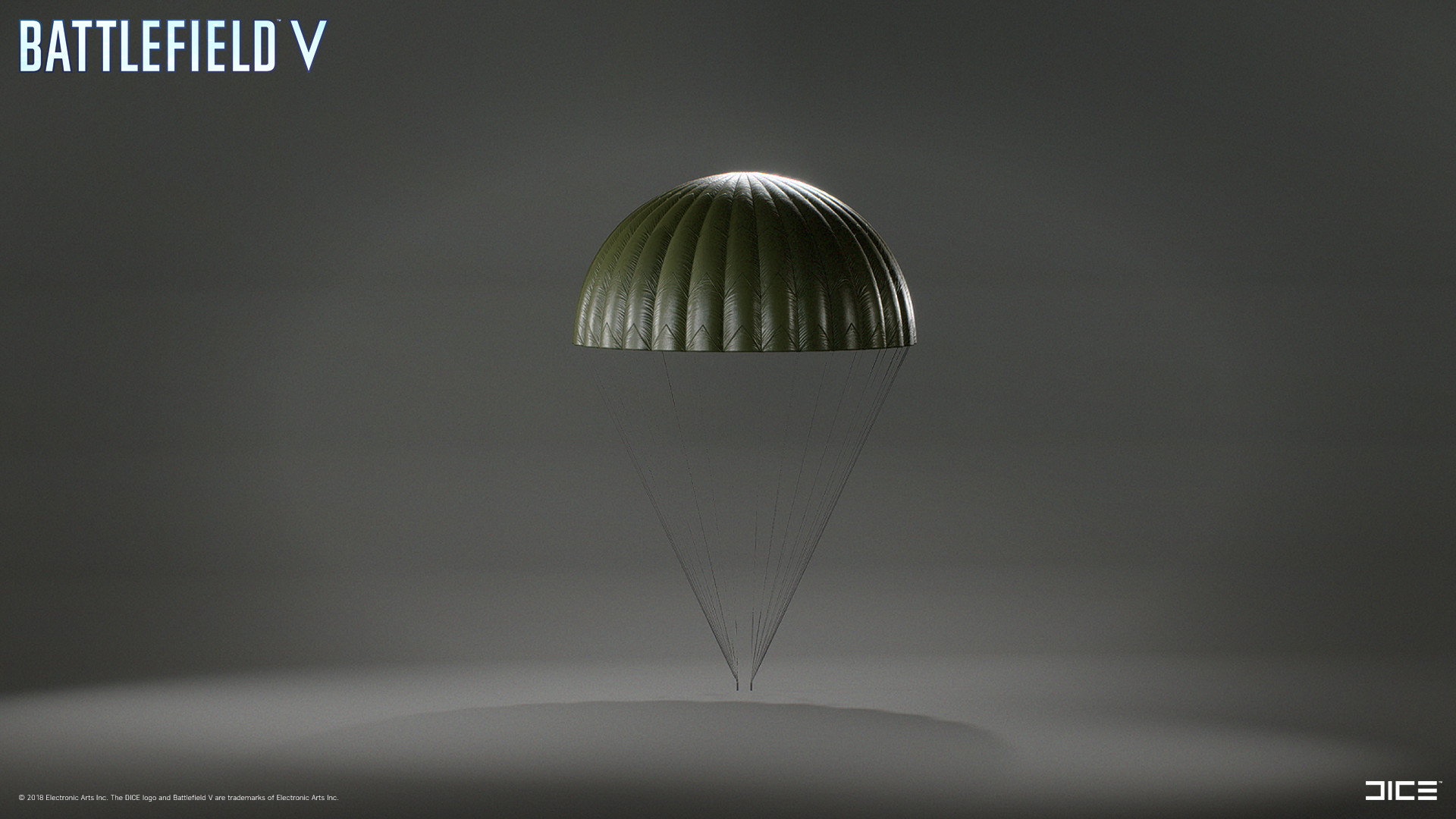 Modeled and textured Parachute, Parachute lines and and fastener by Jonas Holmedal