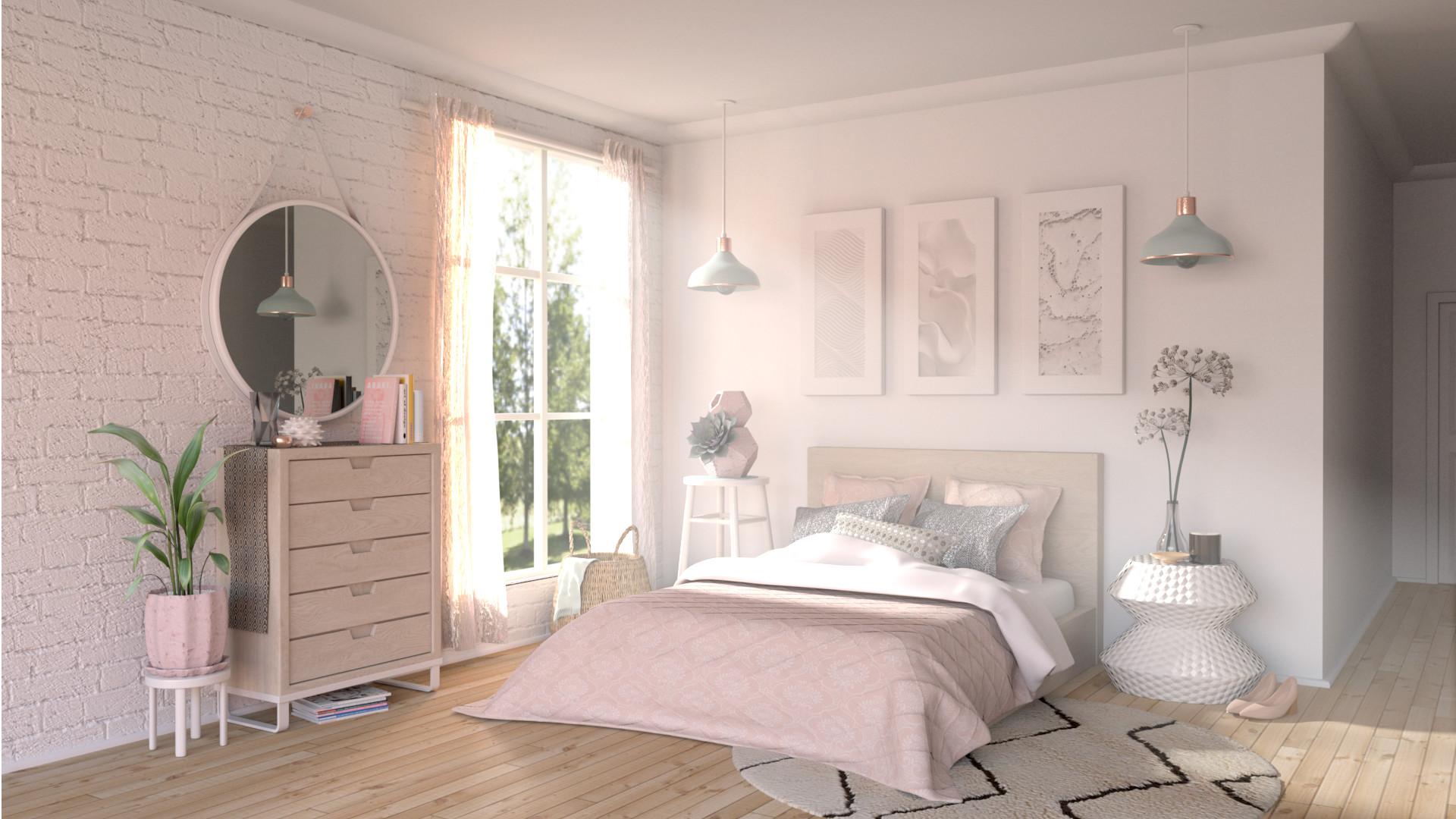 Sunlit bedroom still image