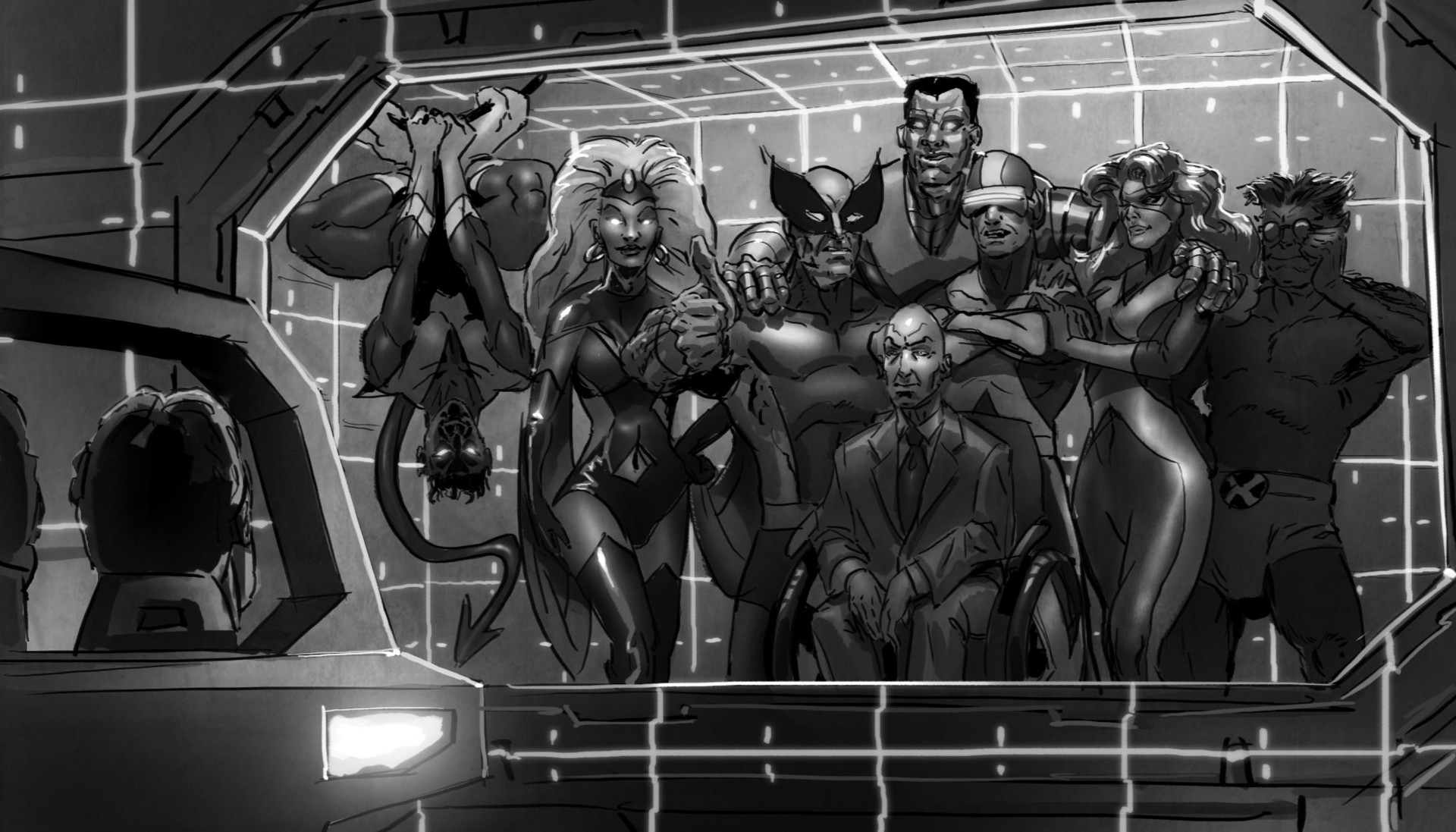 --the illusion is dispelled, revealing that we are in the Danger Room with the gathered X-Men. It has been our first test at Dr. Xavier's school. And we passed!
