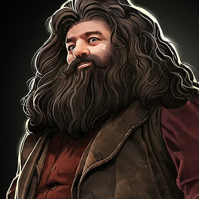 David nakayama hagrid illustration 1000v
