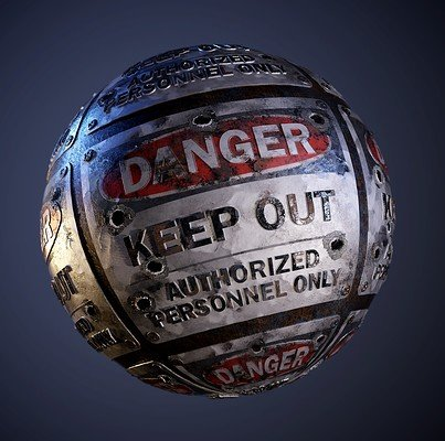 Danger Hazard Sign PBR Seamless Texture