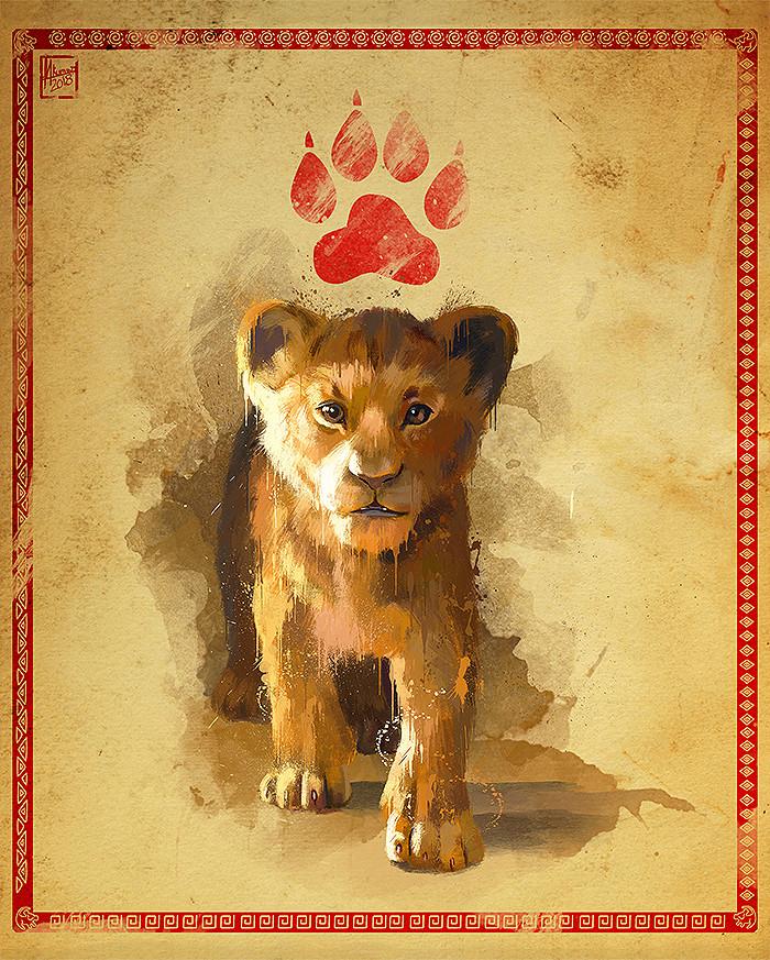 Artstation The Lion King 2019 Splash Poster Mayank Kumarr