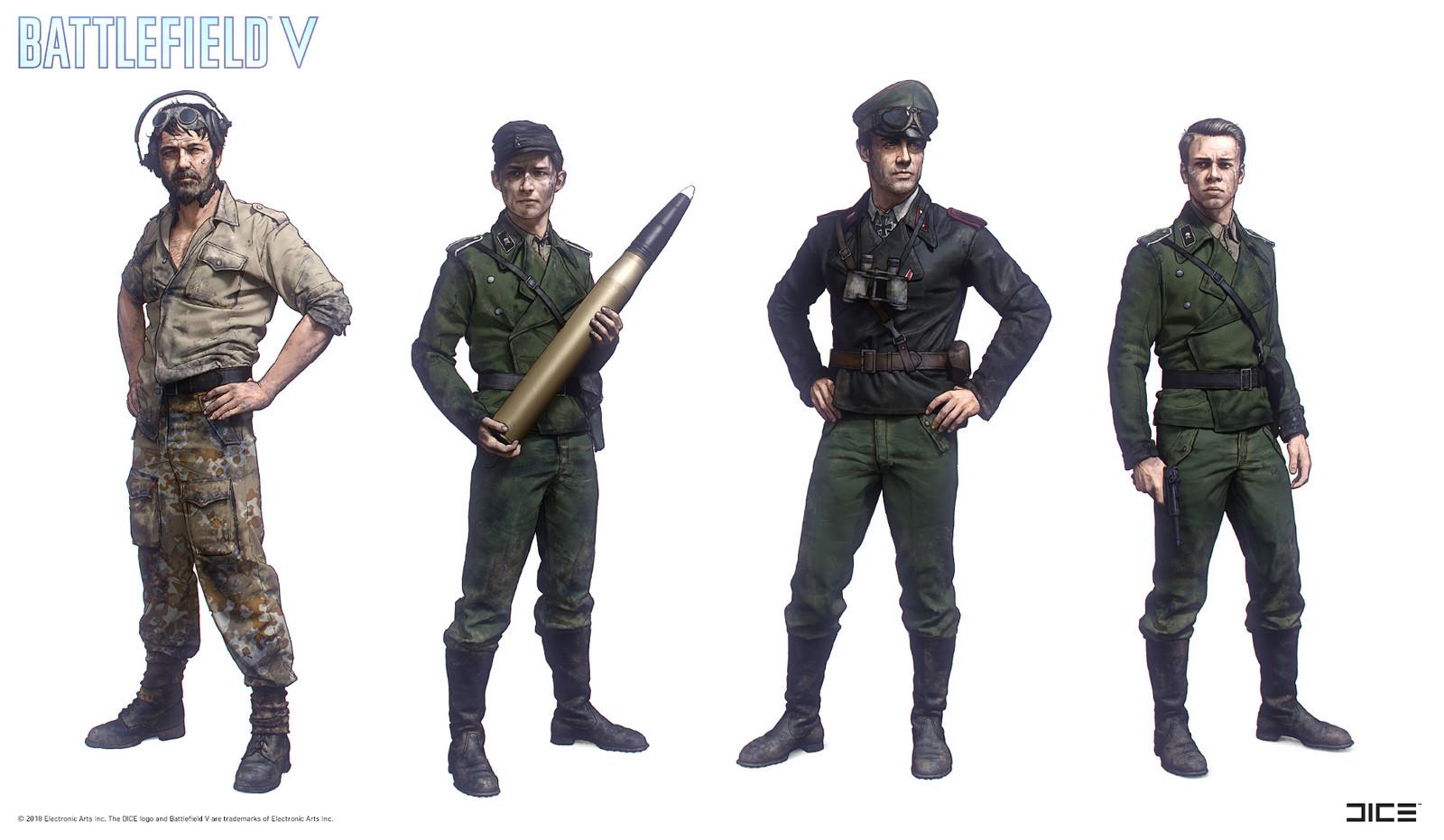 """Battlefield V"" - The Last Tiger, Tank Crew - Character concept art"