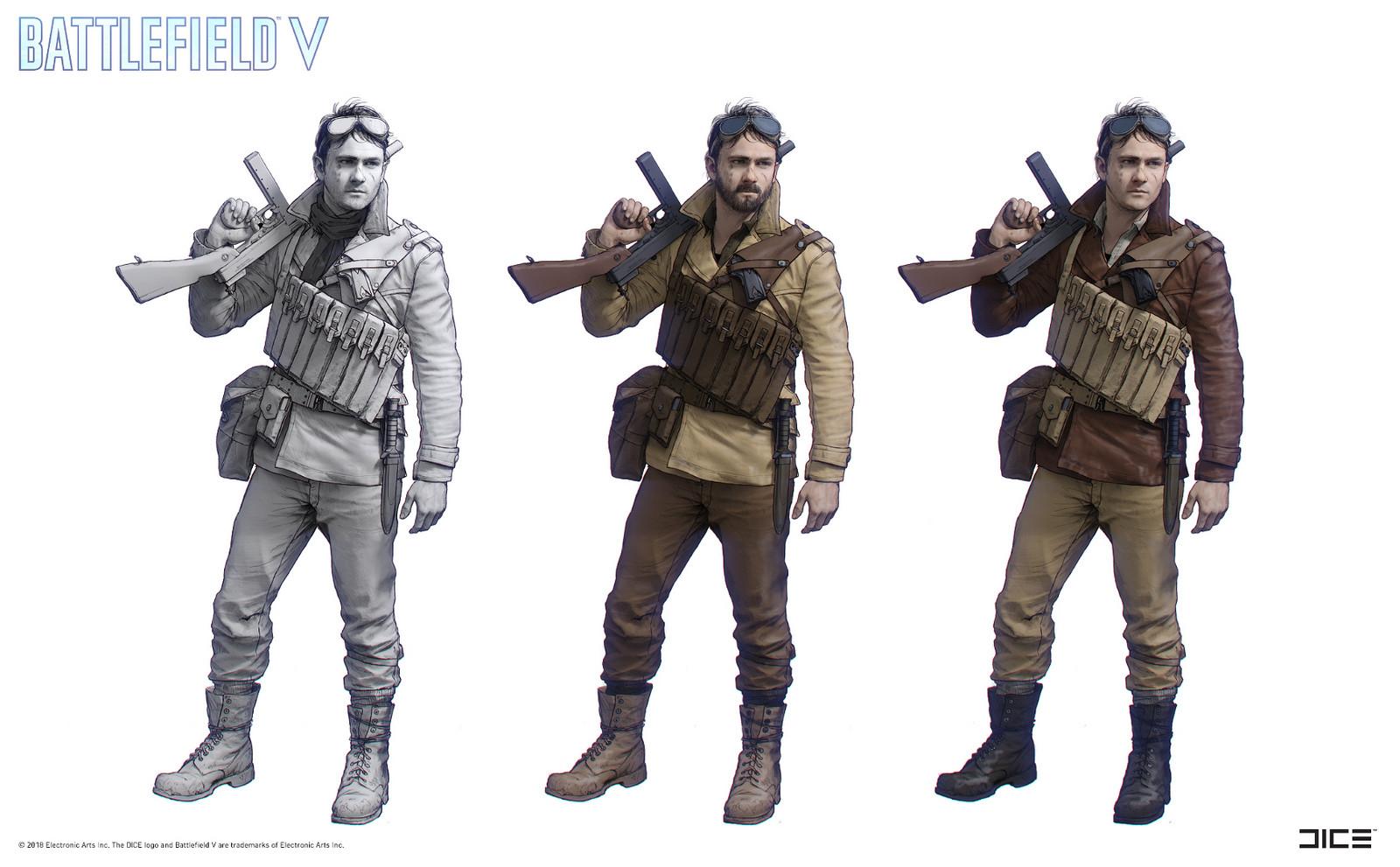 """Battlefield V"" - Under No Flag war, Bridger - Character concept art"