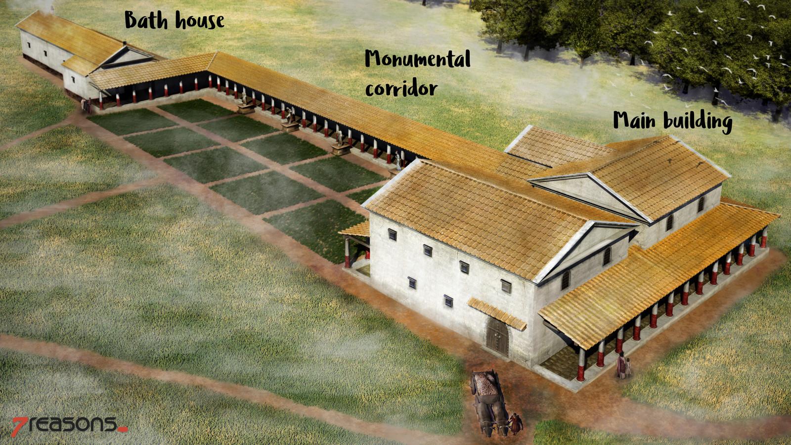 Roman Villa of Weirading - brief explanation