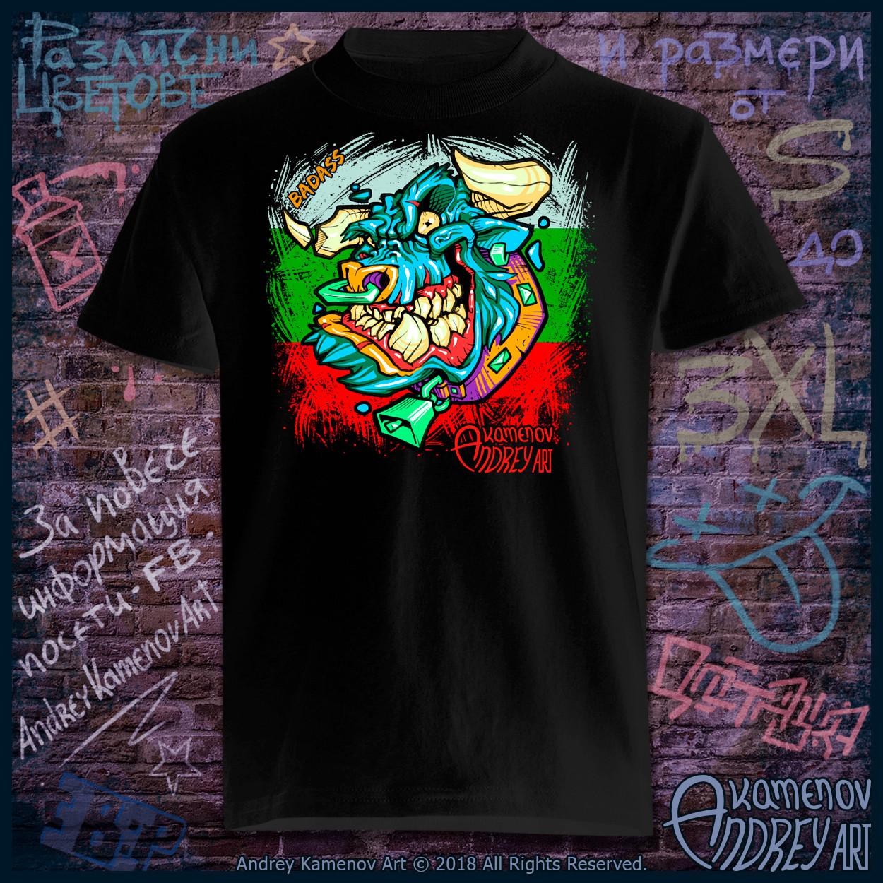 Andrey kamenov badass bull t shirt bg 01