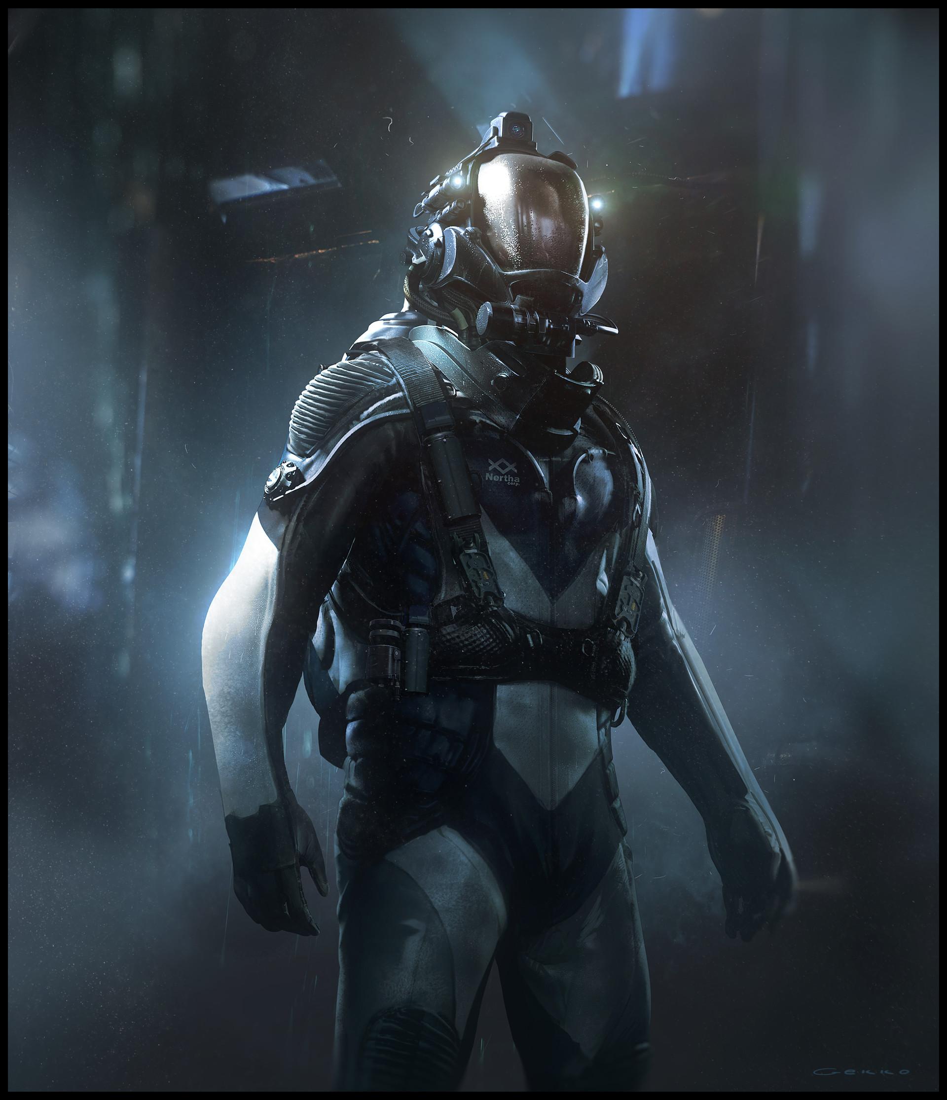 ArtStation - Diving suit