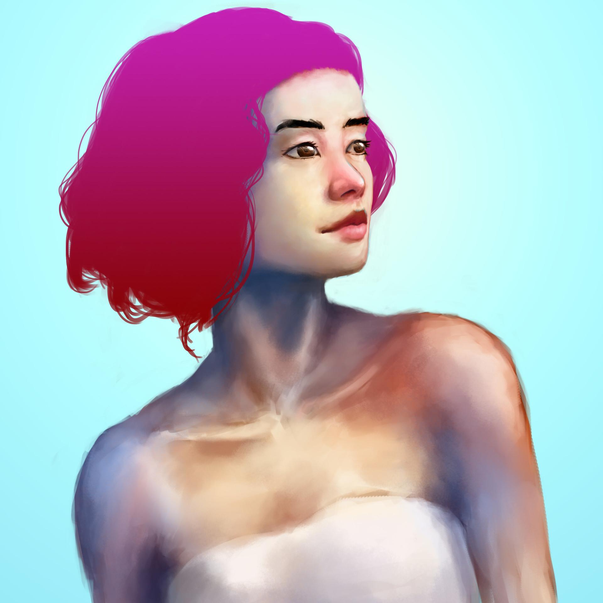 Photoshop speedpaint woman portrait 1