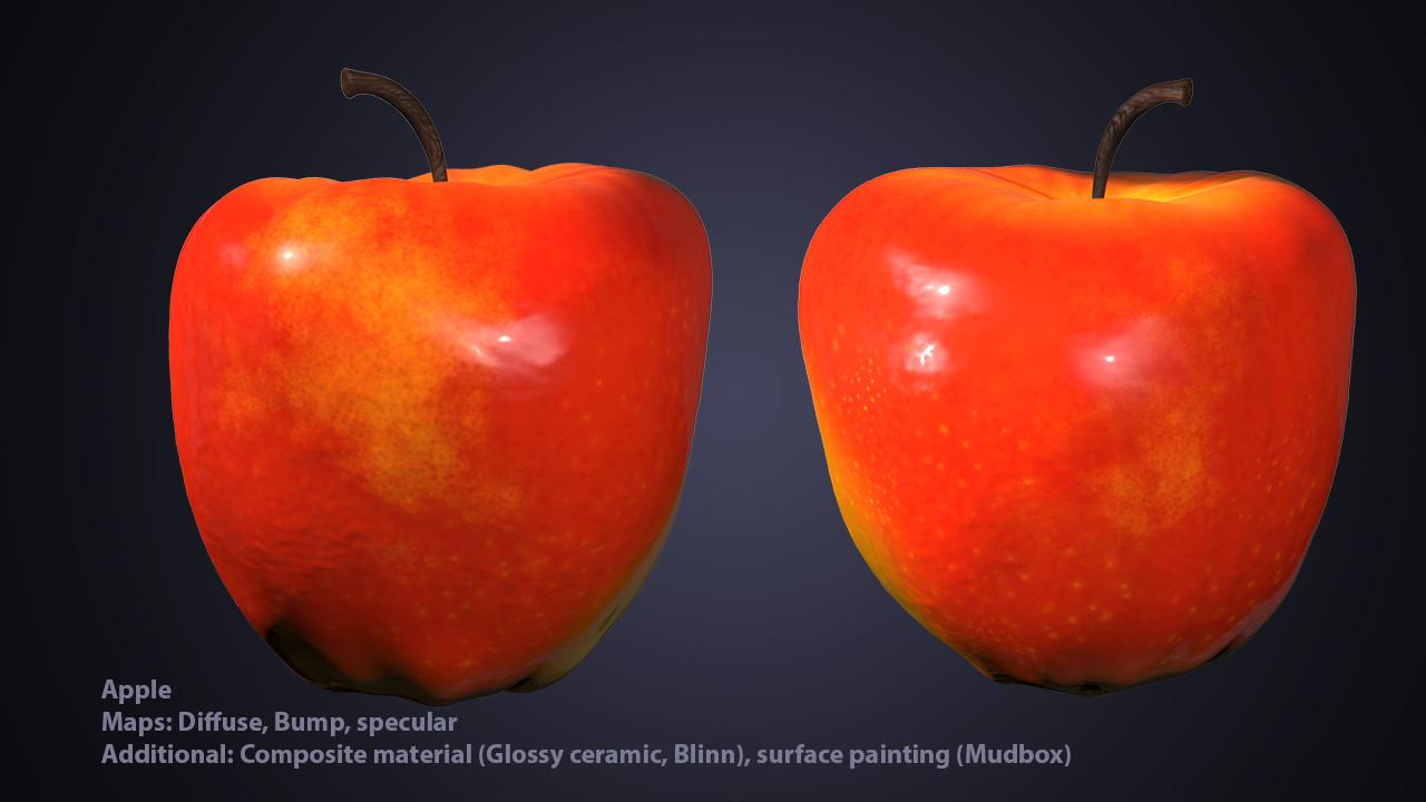 3D Apple render