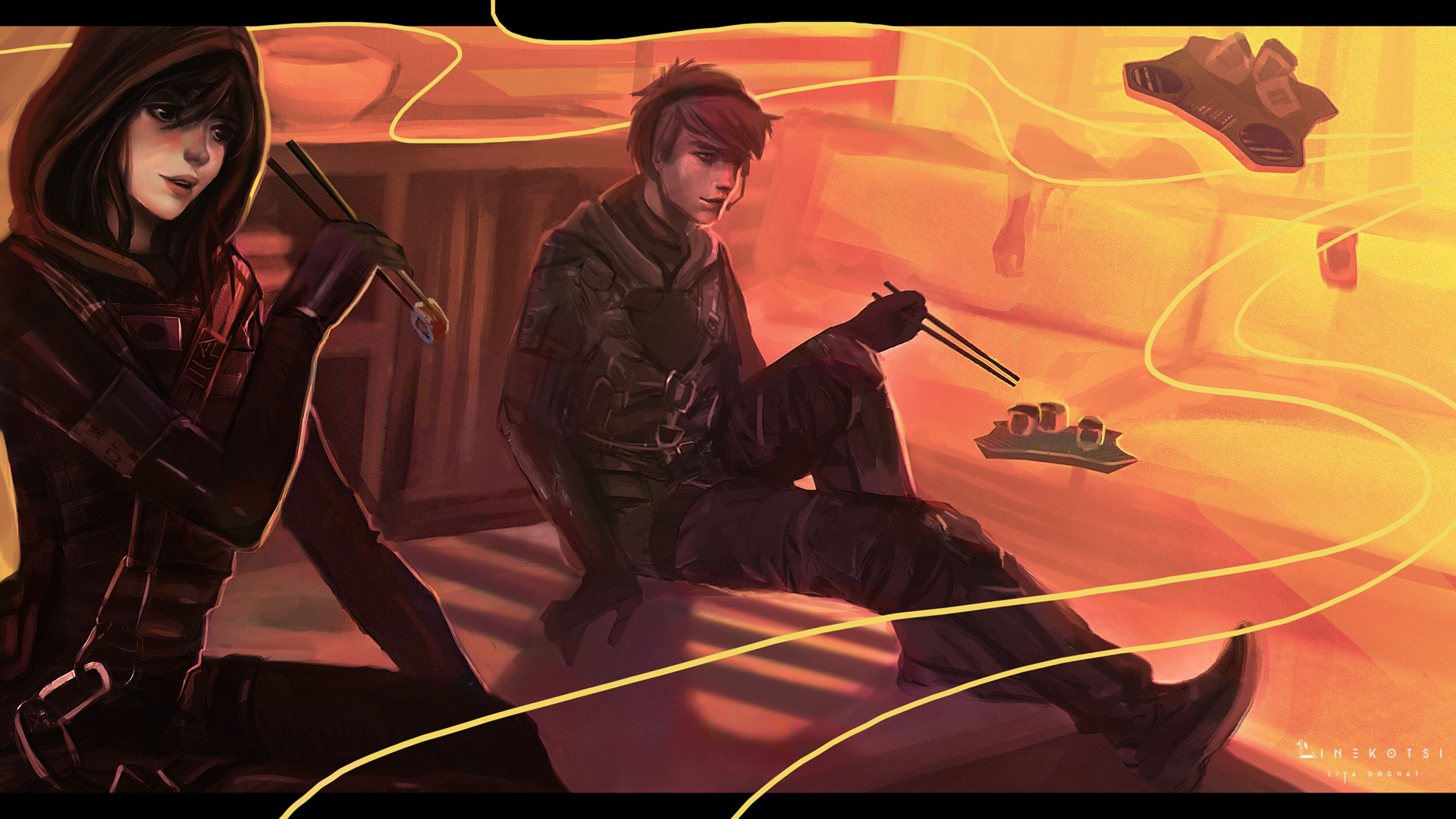 Artstation Hibana And Echo From Tom Clancy S Rainbow Six Siege
