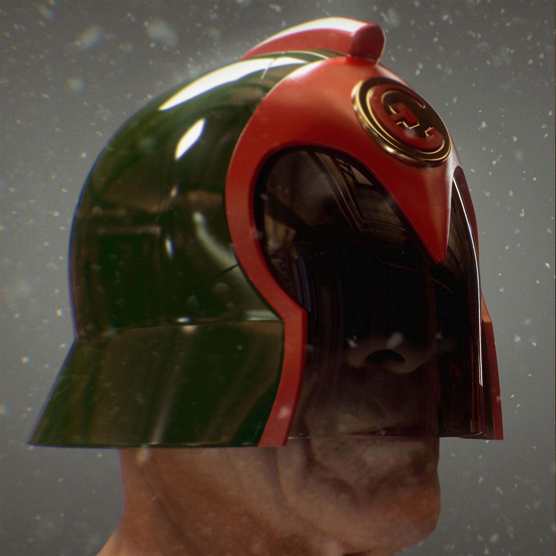 East-Meg One Judge Helmet Based on a design by Brian Bolland (Head sculpt by Ten24)