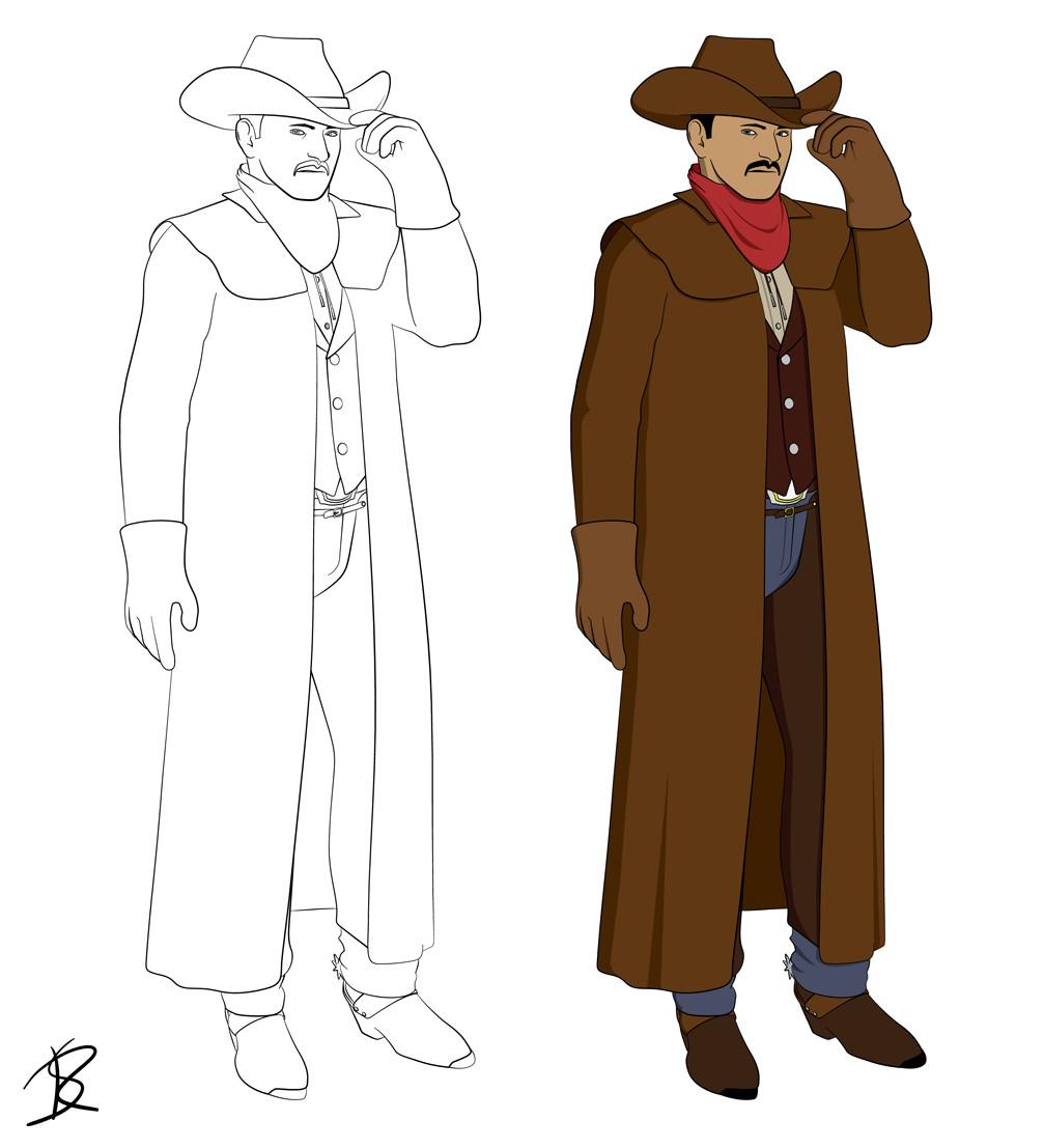 Rob sullivan cowboy line colour