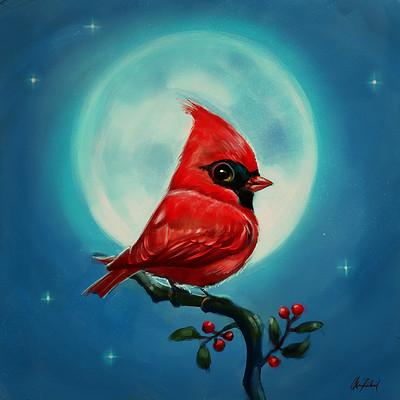 Okan bulbul cardinal bird