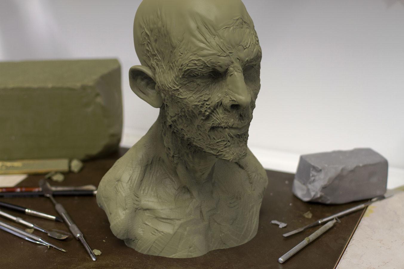 Pablo munoz gomez zombie sculpt wip
