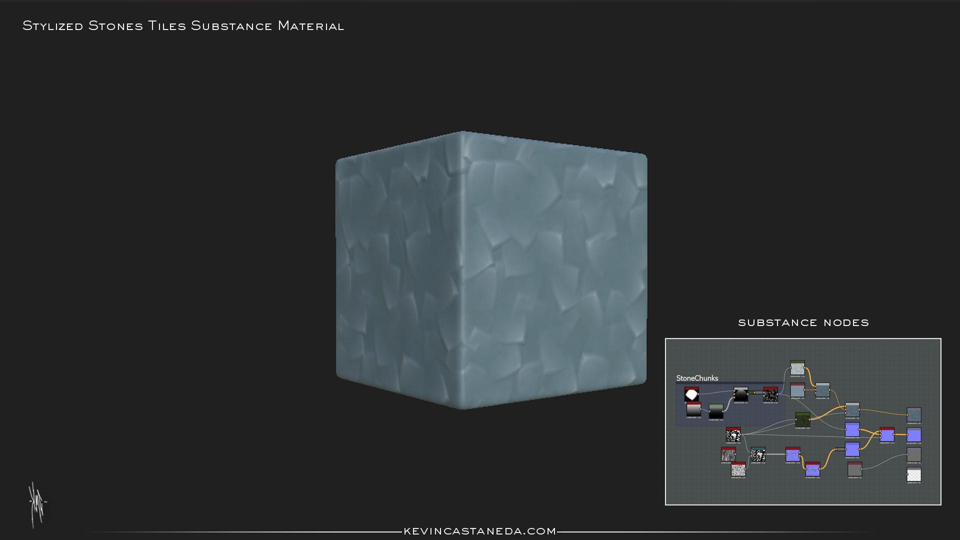 Kevin m castaneda stylized stone tiles substance