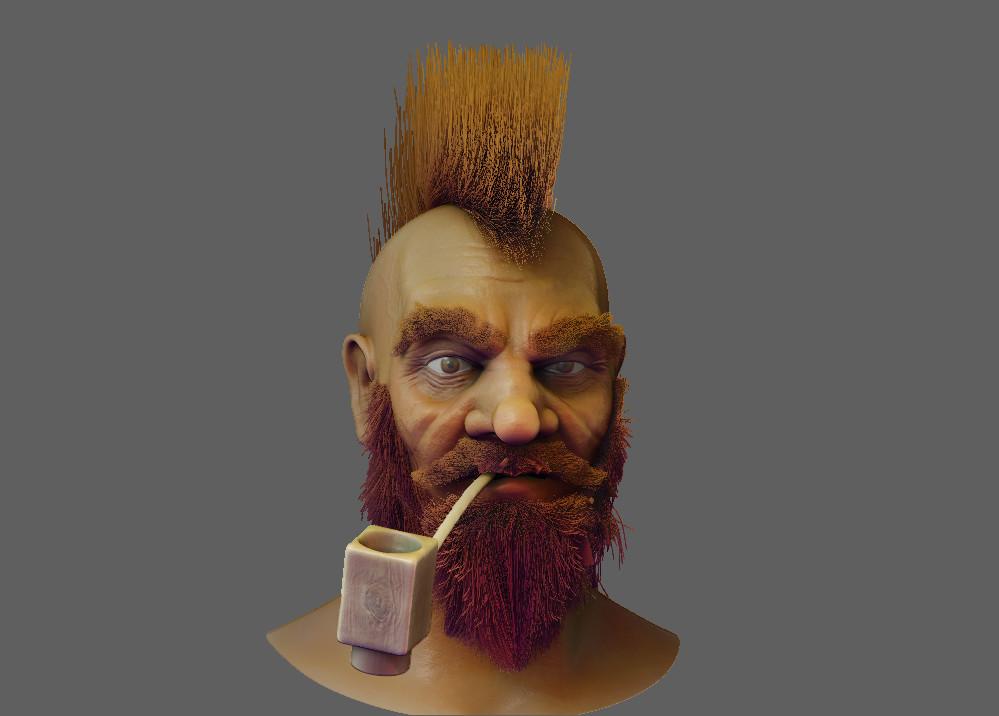 Dwarf head sculpt