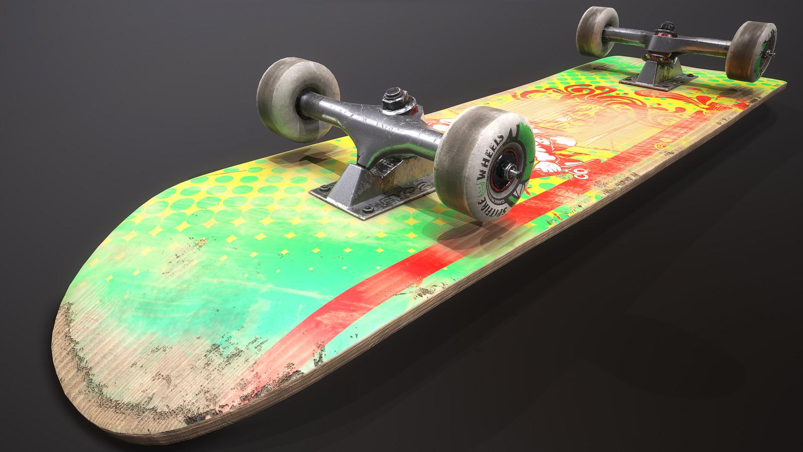 Skateboard Texturing (Sketchfab Challenge)