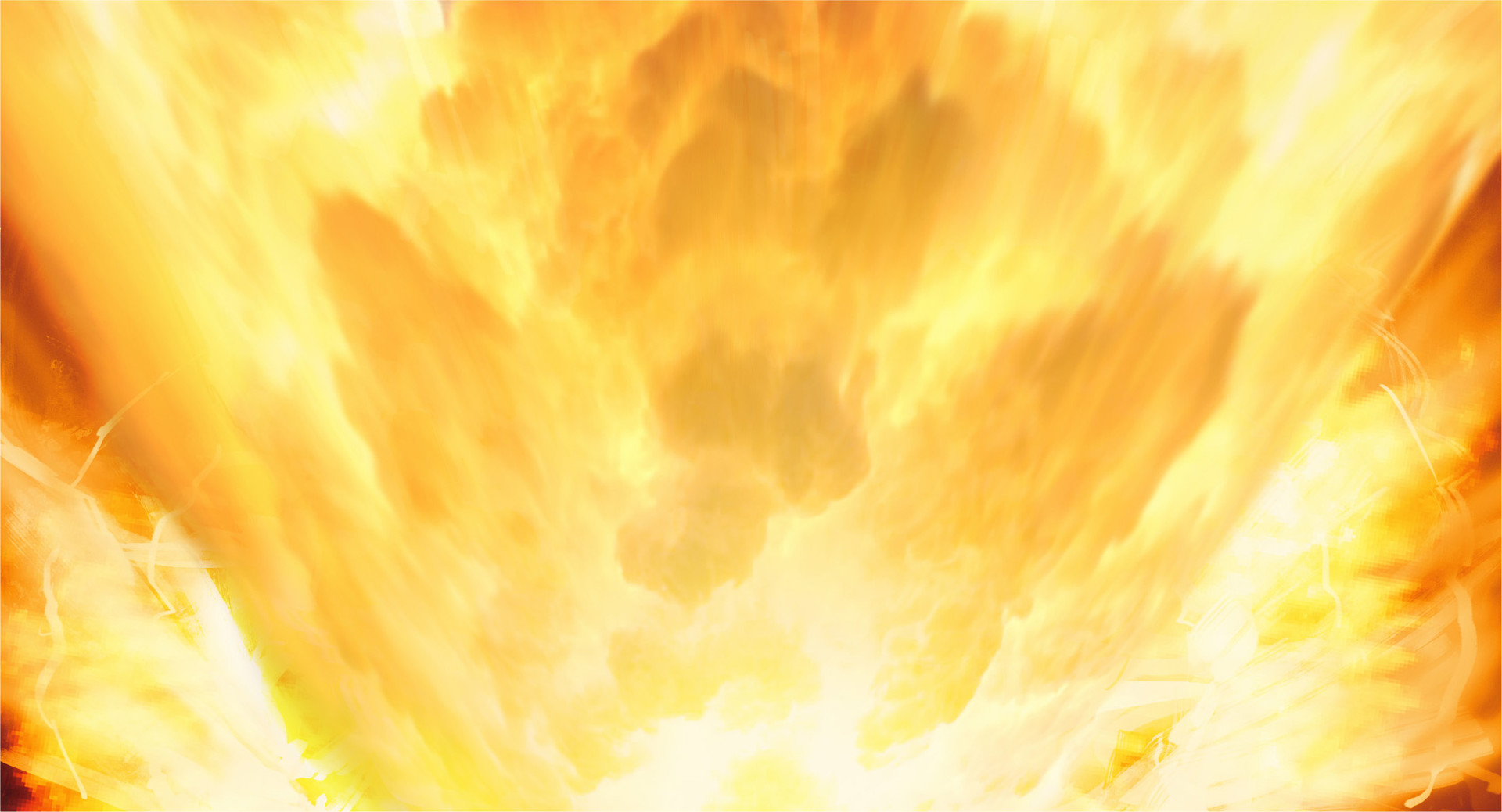 -- and a massive flare surges from the surface below—