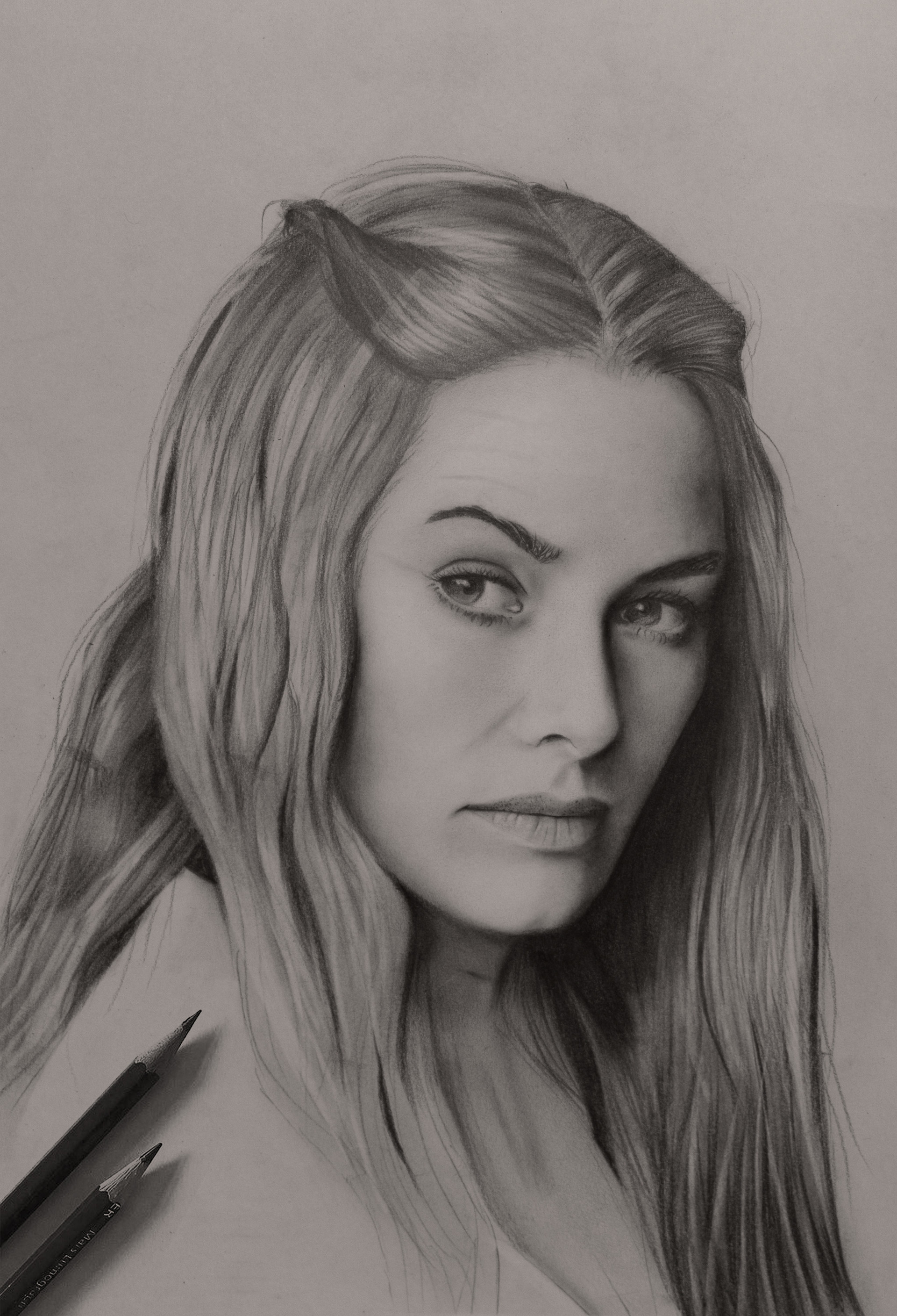 Cersei lannister pencil sketch