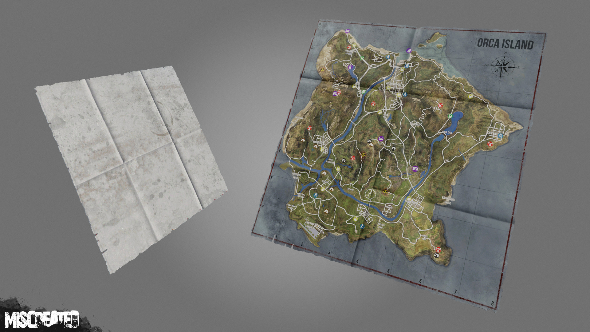 Map Item carried by the player