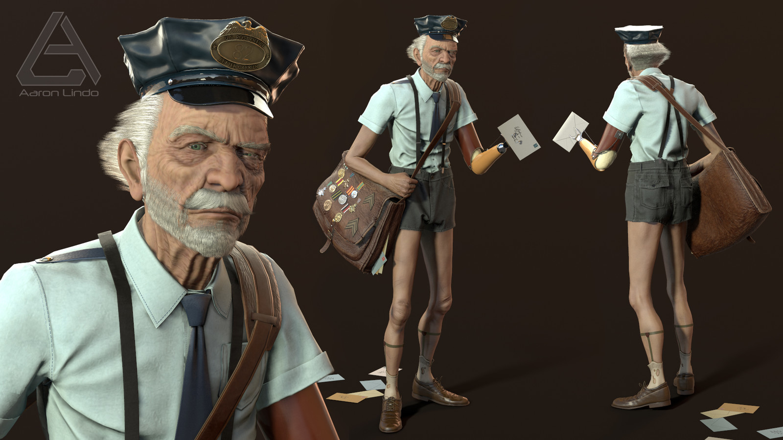 Real-time character rendered in Marmoset Toolbag 3